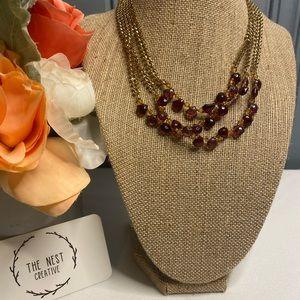 Vintage Monet Purple & Gold Necklace
